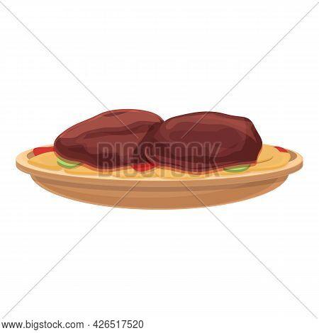 Meat Cutlet Icon Cartoon Vector. Beef Pork. Steak Bacon Food
