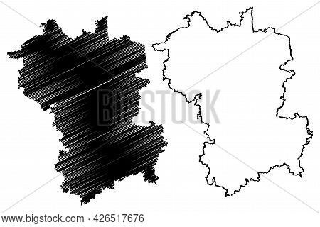 Gunzburg District (federal Republic Of Germany, Rural District Swabia, Free State Of Bavaria) Map Ve
