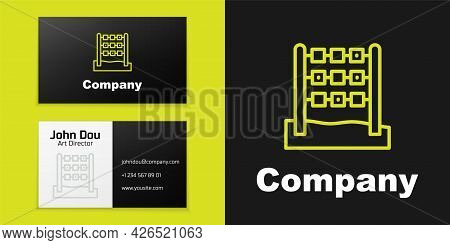 Logotype Line Tic Tac Toe Game Icon Isolated On Black Background. Logo Design Template Element. Vect