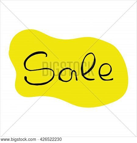 Discount Vector Illustration. Discount Inscription With Label Stock Vector Illustration Isolated On