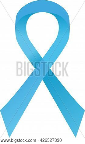 Blue Awareness Ribbon. Mens Health, Childhood Cancer, Prostate Cancer Solidarity Day Concept. Stock