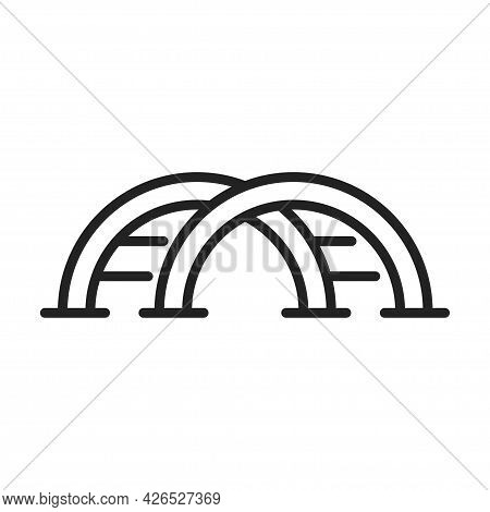 Monochrome Linear Children S Slide Stairs Icon Vector Illustration Playground Climbing Staircase