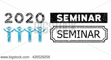 Mosaic 2020 Gentlemen Dance Constructed From Rectangle Parts, And Black Grunge Seminar Rectangle Bad