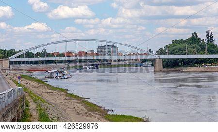 Belvarosi Bridge Over Tisa River In Szeged Hungary