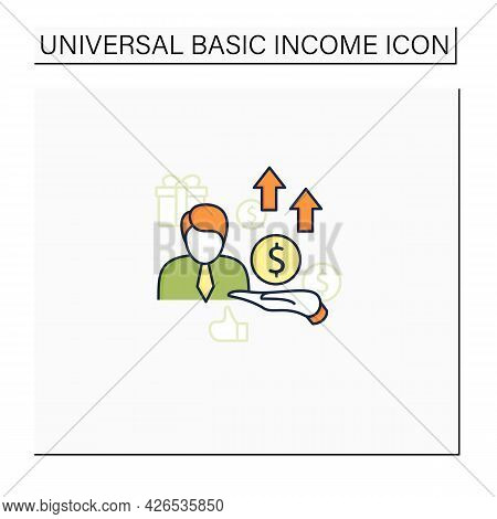 New Investors Color Icon. Creating New Investors Generation. High Quality Worker. Profitable Busines