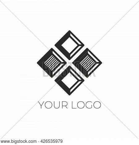 Stylish Chocolate Logo. Vector Logo For Chocolatier. Design Element For Cafes, Restaurants, Handmade