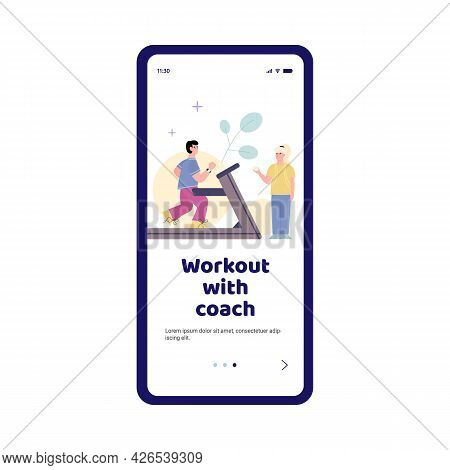 Smartphone App For Effective Workouts On Treadmill With Personal Sport Coach.