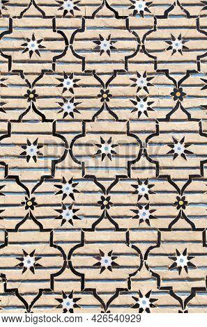 Detail of traditional persian mosaic on bricks, Iran