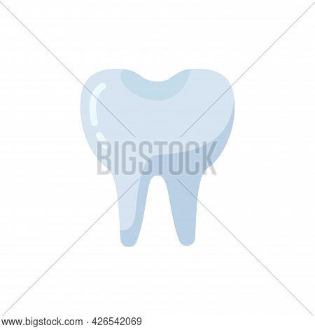 Tooth Clipart Flat Icon. Vector Illustration. Tooth Clipart Flat Icon. Vector Illustration.