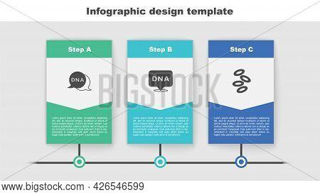 Set Dna Symbol, And Hemoglobin. Business Infographic Template. Vector