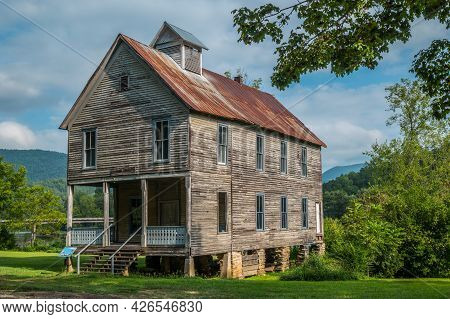 Old Historic Church Also Used As A School At One Time Still Standing Along The Hiawassee River In Re