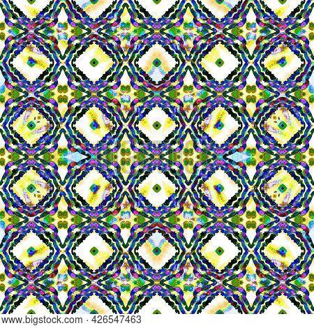 Geo Art Ornament. Purple, Pink, Lavender Textile. Moroccan, Tunisian Motif. Turkish, Arab Seamless P
