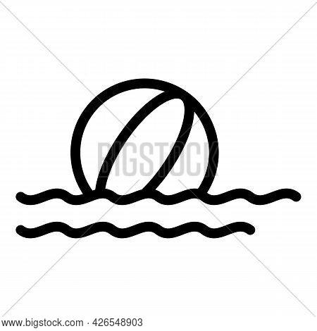Beach Ball Icon Outline Vector. Summer Water Toy. Inflatable Pool Beachball