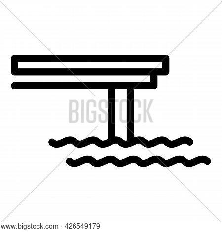 Sea Bridge Icon Outline Vector. Sea Building Construction. Ocean Road