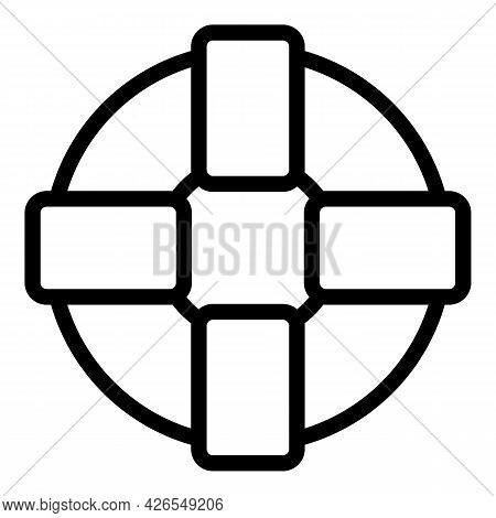 Sea Lifebuoy Icon Outline Vector. Rescue Ring. Safety Life Buoy