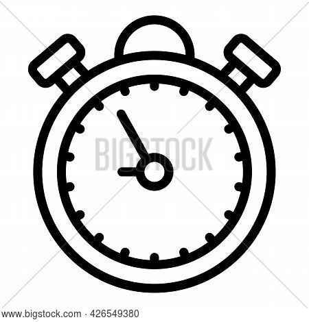 Stopwatch Icon Outline Vector. Time Deadline. Stop Chronometer