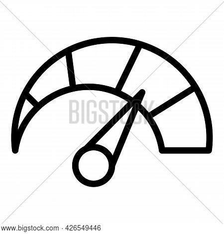 Speedometer Icon Outline Vector. Speed Km. Car Indicator
