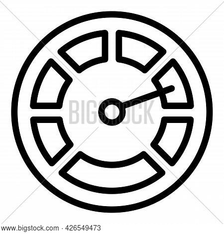 Sport Dashboard Icon Outline Vector. Car Panel. Meter Counter