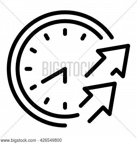 Wall Clock Score Icon Outline Vector. Digital Alarm. Day Time Scoreboard