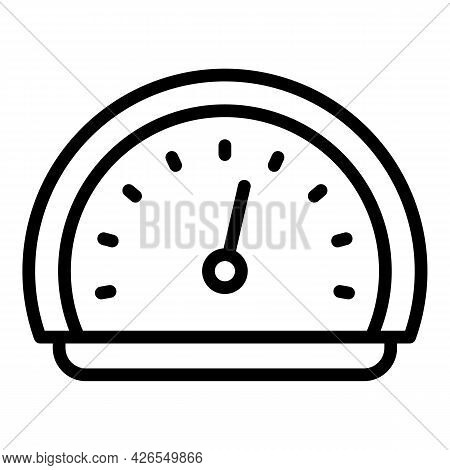 Classic Speedometer Icon Outline Vector. Car Dashboard. Dial Odometer