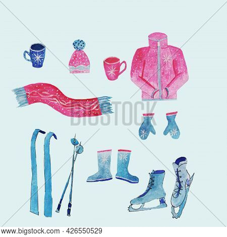 Warm, Professional Clothing For Winter Sports And Entertainment In The Cold,in Winter In The Cold,sk