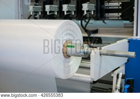 Moving Roller With Flat Polyethylene Transparent Film - Automatic Plastic Bag Making Machine At Exhi