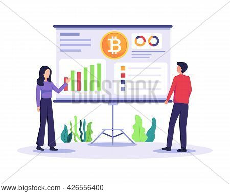 People Analyze Cryptocurrency Chart
