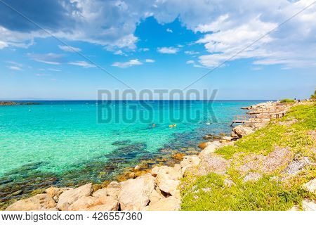 Protaras Seascape In South Cyprus In Summer