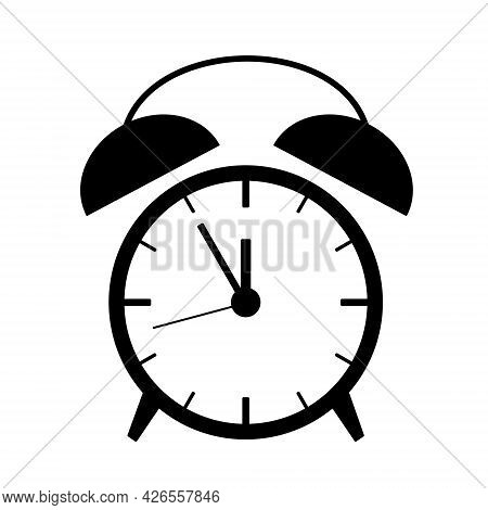 Alarm Clock Icon Illustration With Arrows And Bells