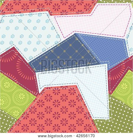 Seamless Patchwork Background Pattern. Will Tile Endlessly.