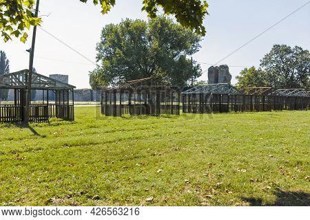 Ruins Of Smederevo Fortress In Town Of Smederevo, Serbia