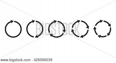 Cursor Arrow Icon Set. Forward Icon. Recycle Icon Set. Simple Design. Vector Illustration. Stock Ima
