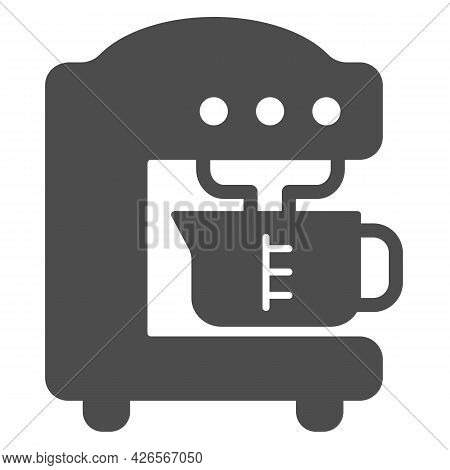 Coffee Machine Solid Icon, Englishbreakfast Concept, Coffee Machine Vector Sign On White Background,