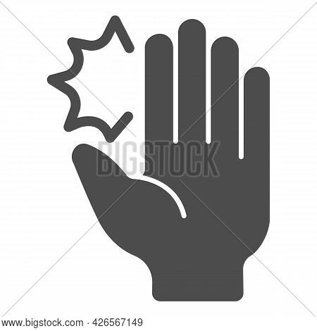 Hand Pain Solid Icon, Officesyndrome Concept, Hand Pain Vector Sign On White Background, Hand Pain G