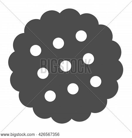 Cracker Solid Icon, Englishbreakfast Concept, Cookies Vector Sign On White Background, Cracker Glyph