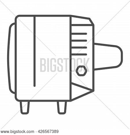 Tv Record Thin Line Icon, Monitors And Tv Concept, Soviet Union Tv Record Vector Sign On White Backg