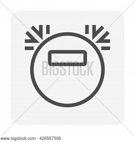 Robotic Vacuum Cleaner Machine Or Equipment Vector Icon. That Appliance Or Household With Smart Auto