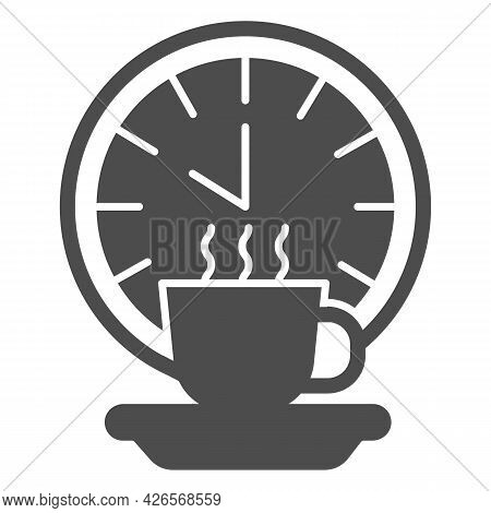 Coffee Break Solid Icon, Officesyndrome Concept, Coffee Break Vector Sign On White Background, Coffe