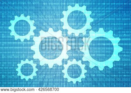 Gear Technology Background, Digital Abstract Technology Background, Futuristic Background, Cyberspac