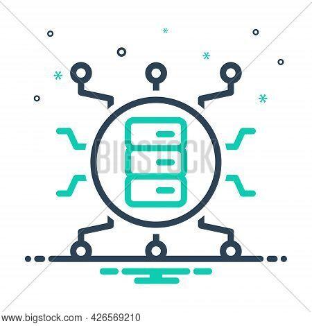 Mix Icon For Big-data Storage Stock Store Server Electronic
