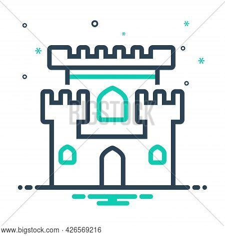 Mix Icon For Castle Chateau Mansion Stronghold Citadel Flanker Castle