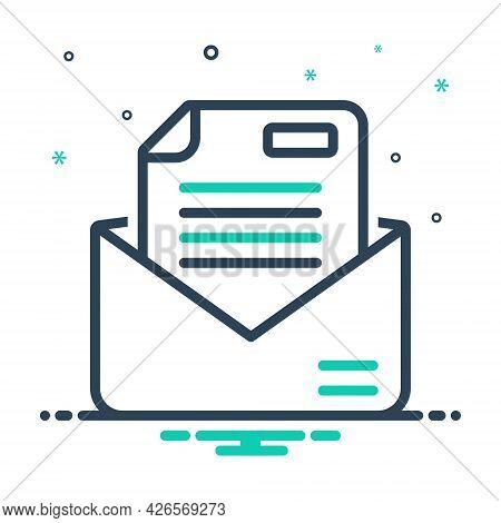 Mix Icon For Letter Messages Tidings  Text Scenarios  Email Script Document Manuscript Certificate