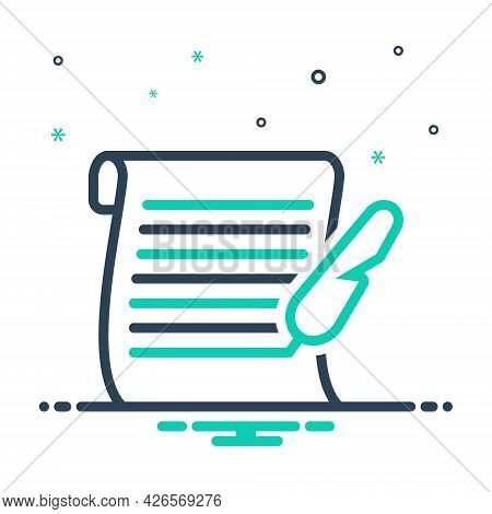 Mix Icon For Letter Messages Tidings  Text Scenarios  Script Document Manuscript Certificate