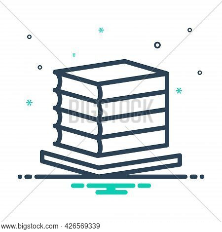 Mix Icon For Books Bibliography Books Collection Bookcase Bookshelf Education Knowledge Textbook