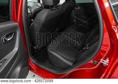Novosibirsk, Russia - June 29, 2021: Renault Kaptur, Car Passenger And Driver Seats With Seats Belt.