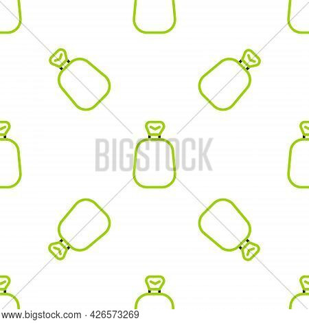 Line Full Sack Icon Isolated Seamless Pattern On White Background. Vector