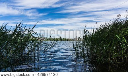 Idyllic View Over Lake Ziegelsee In Schwerin