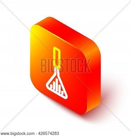 Isometric Line Barbecue Spatula Icon Isolated On White Background. Kitchen Spatula Icon. Bbq Spatula