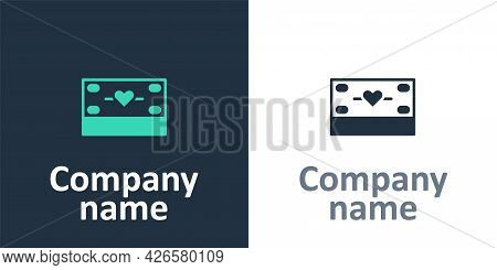 Logotype Donation And Charity Icon Isolated On White Background. Donate Money And Charity Concept. L