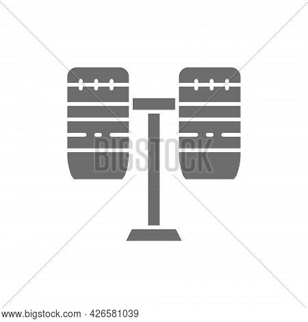 Brazilian Drums, Percussion, Musical Instrument Grey Icon.